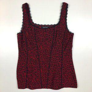 White House Black Market cheetah corset tank